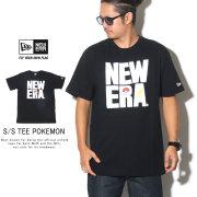 NEW ERA ニューエラ 半袖Tシャツ コットン Tシャツ ポケモン スクエア ニューエラ ブラック 12110831