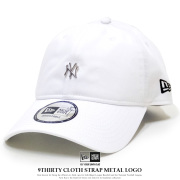NEW ERA ニューエラ カーブバイザーキャップ 9THIRTY クロスストラップ メタルロゴ ニューヨーク・ヤンキース ホワイト 12119362