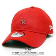 NEW ERA ニューエラ カーブバイザーキャップ 9THIRTY クロスストラップ メタルロゴ ニューヨーク・ヤンキース レッド 12119363
