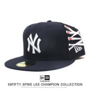 NEW ERA ニューエラ フラットバイザーキャップ 59FIFTY New Era x A Spike Lee Joint Collection スパイク・リー ジョイント コレクション チャンピオンシップ ウィーブ バット 12158176