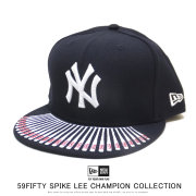 NEW ERA ニューエラ フラットバイザーキャップ 59FIFTY New Era x A Spike Lee Joint Collection スパイク・リー ジョイント コレクション チャンピオンシップ バイザー バット 12158180