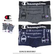 CHAMPION チャンピオン ボクサーパンツ スクリプトロゴ総柄 立体成型 SEAMLESS BOXER BRIEF CM6-P104