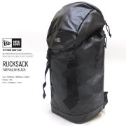 NEW ERA ニューエラ バックパック ラックサック プリントロゴ ブラックターポリン × ブラック 11901935