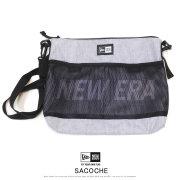 NEW ERA ニューエラ サコッシュ SACOCHE 2.5L プリントロゴ ヘザーライトグレー × ホワイト 12108418