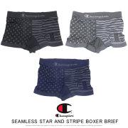 CHAMPION チャンピオン ボクサーブリーフ SEAMLESS STAR AND STRIPE BOXER BRIEF CM6-Q206