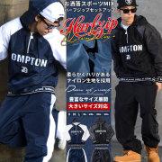 DOP ディーオーピー ナイロン セットアップ メンズ 大きいサイズ ハーフジップ COMPTON hiphop ヒップホップ b系 ファッション DPST125