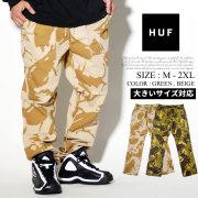 HUF ハフ イージーパンツ メンズ 迷彩柄 カモフラ スケーター ストリート系 ファッション 服 通販 PT00064 FHDT008