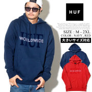 HUF ハフ プルオーバーパーカー メンズ ロゴ ネーム スケーター ストリート系 ファッション 服 通販 PF00069 FHPT014