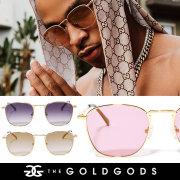 THE GOLD GODS ザ・ゴールドゴッズ サングラス 18金コーティング カラーレンズ ブリンブリン ストリート系 ヒップホップ ファッション ATHENA GGAT003