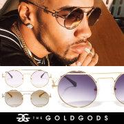 THE GOLD GODS ザ・ゴールドゴッズ サングラス 18金コーティング カラーレンズ ブリンブリン ストリート系 ヒップホップ ファッション LUMINV2 GGAT004