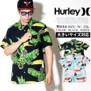 HURLEY ハーレー 半袖 アロハシャツ メンズ ヤシの葉 サーフ系 ストリート系 スケーター ファッション AA4963 HAOT003