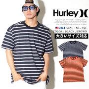 HURLEY ハーレー 半袖Tシャツ メンズ ボーダー柄 ヤシの木 サーフ系 ストリート系 スケーター ファッション AA4831 HATT003