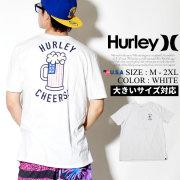HURLEY ハーレー 半袖Tシャツ メンズ バックプリント ビール ロゴ サーフ系 ストリート系 スケーター ファッション AA5336 HATT004