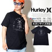 HURLEY ハーレー 半袖Tシャツ メンズ スカル ヤシの木 サーフ系 ストリート系 スケーター ファッション AA5306 HATT005