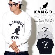 KANGOL カンゴール トレーナー メンズ カンガルー ロゴ グラフィック プリント ストリート系 ヒップホップ ファッション 服 通販 LCK0010