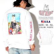 RIPNDIP リップンディップ 長袖Tシャツ ロンT メンズ 猫 ネコ 王冠 ストリート系 ファッション Fouquet Madonna L/S 服 通販