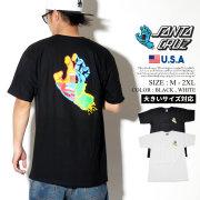 Santa Cruz サンタクルーズ Tシャツ 半袖 メンズ 大きいサイズ スクリーミングハンド バックプリント スケーター スケボー ストリート系 スケートファッション 44154358 服 通販