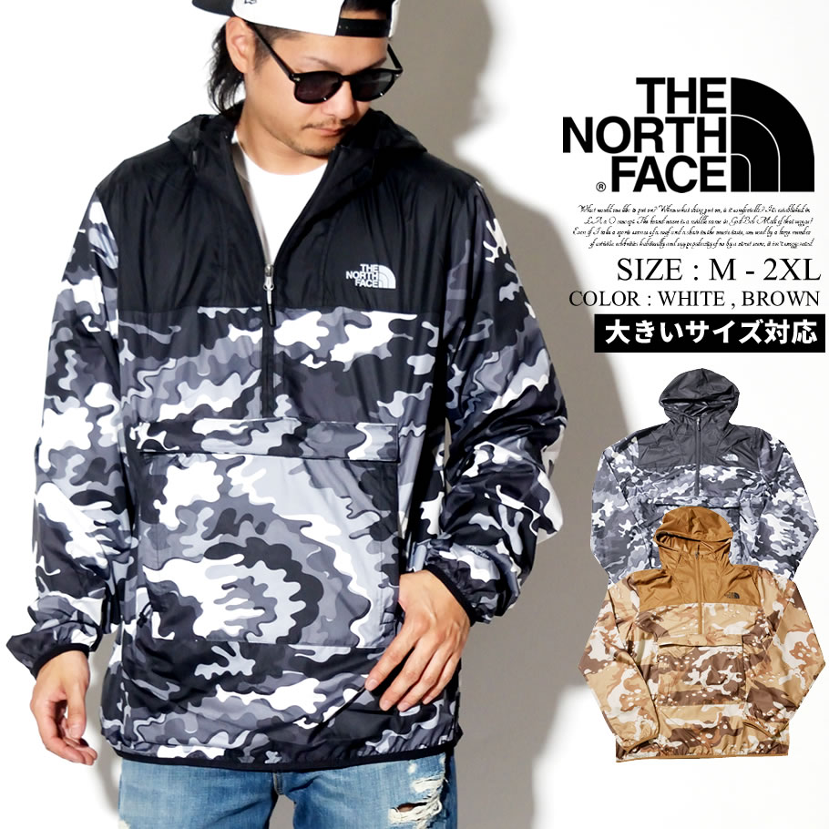 THE NORTH FACE ザノースフェイス アノラックジャケット メンズ 大きいサイズ 迷彩柄 カモフラ ロゴ ストリート系 アウトドア ファッション NF0A3T2S 服 通販
