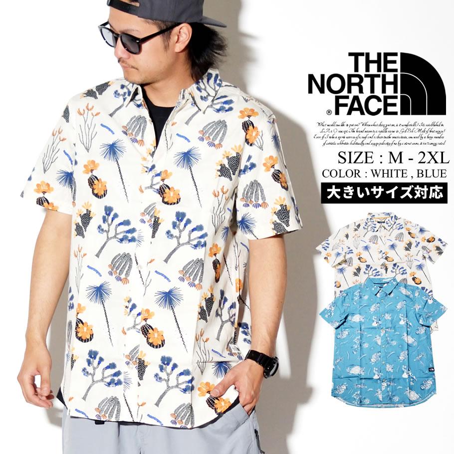 THE NORTH FACE ザノースフェイス 半袖シャツ メンズ 大きいサイズ 花柄 アロハ ロゴ アウトドア ストリート系 ファッション NF0A3T1F 服 通販