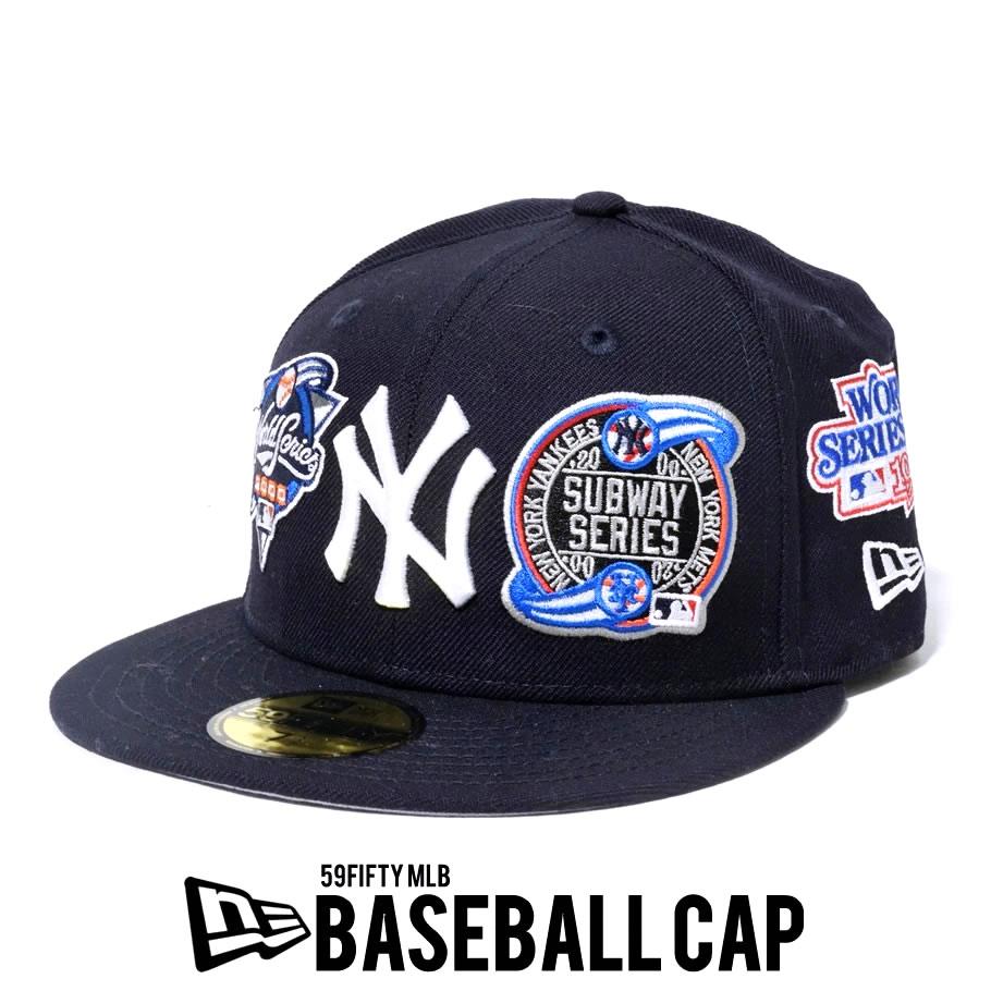 NEW ERA ニューエラ 59FIFTY ニューヨーク・ヤンキース MLB ロゴ オールオーバー ネイビー 12540869