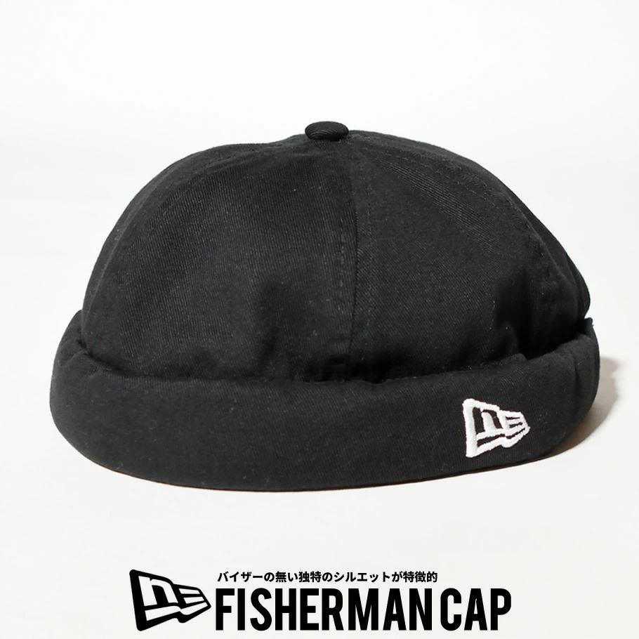 ニューエラ キャップ 帽子 メンズ レディース NEW ERA フィッシャーマンキャップ ウォッシュドコットン ブラック 12653638