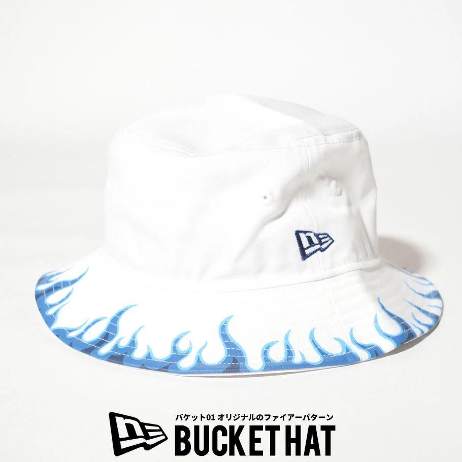 ニューエラ バケットハット 帽子 メンズ レディース NEW ERA バケット01 ファイアーパターン ホワイト 12653663