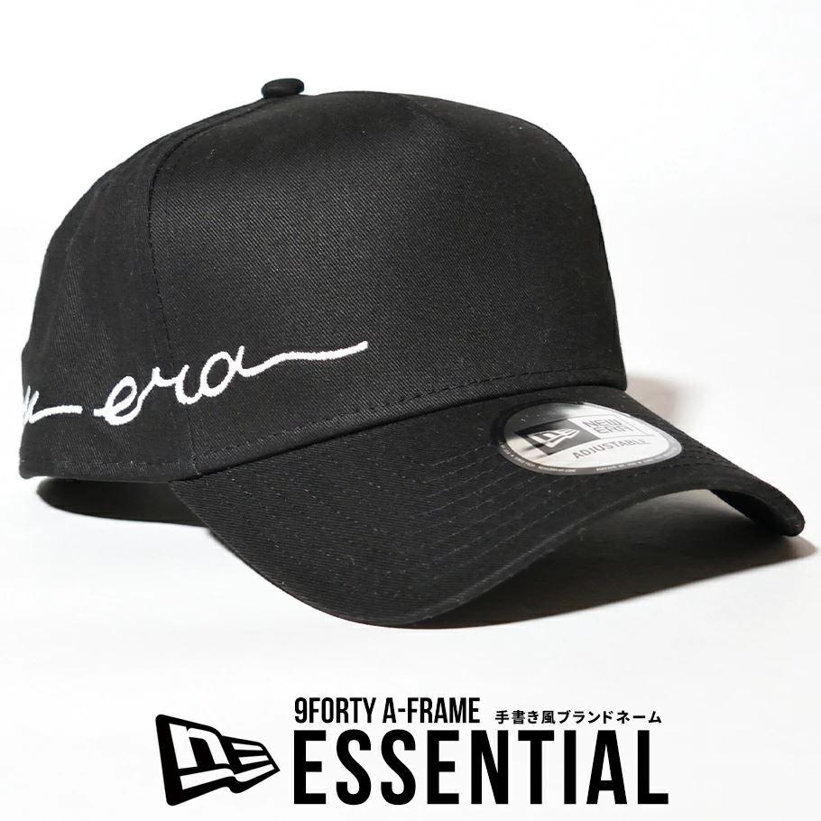 ニューエラ キャップ 帽子 メンズ レディース NEW ERA 9FORTY A-Frame エッセンシャル ブラック 12653767