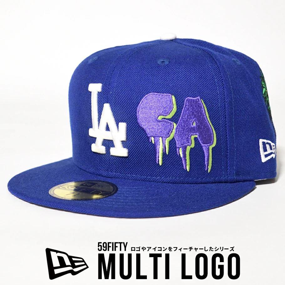 ニューエラ キャップ 帽子 メンズ NEW ERA 59FIFTY ロサンゼルス・ドジャース マルチロゴ ダークロイヤル 12653889