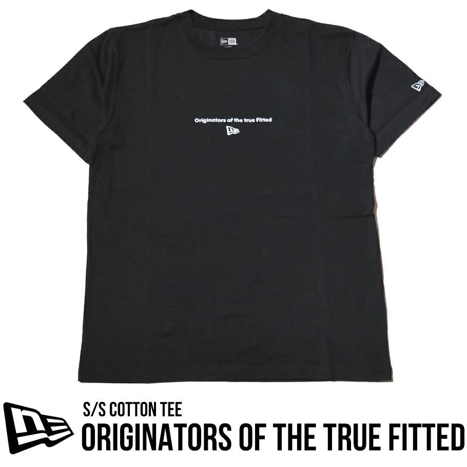 ニューエラ Tシャツ メンズ 半袖 NEW ERA コットンTシャツ レギュラーフィット オリジネーターズ ブラック 12674218