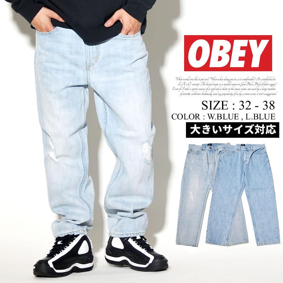 OBEY オベイ デニムパンツ ジーンズ メンズ Gパン ストリート系 ファッション 服 通販 142010050 OBDT005