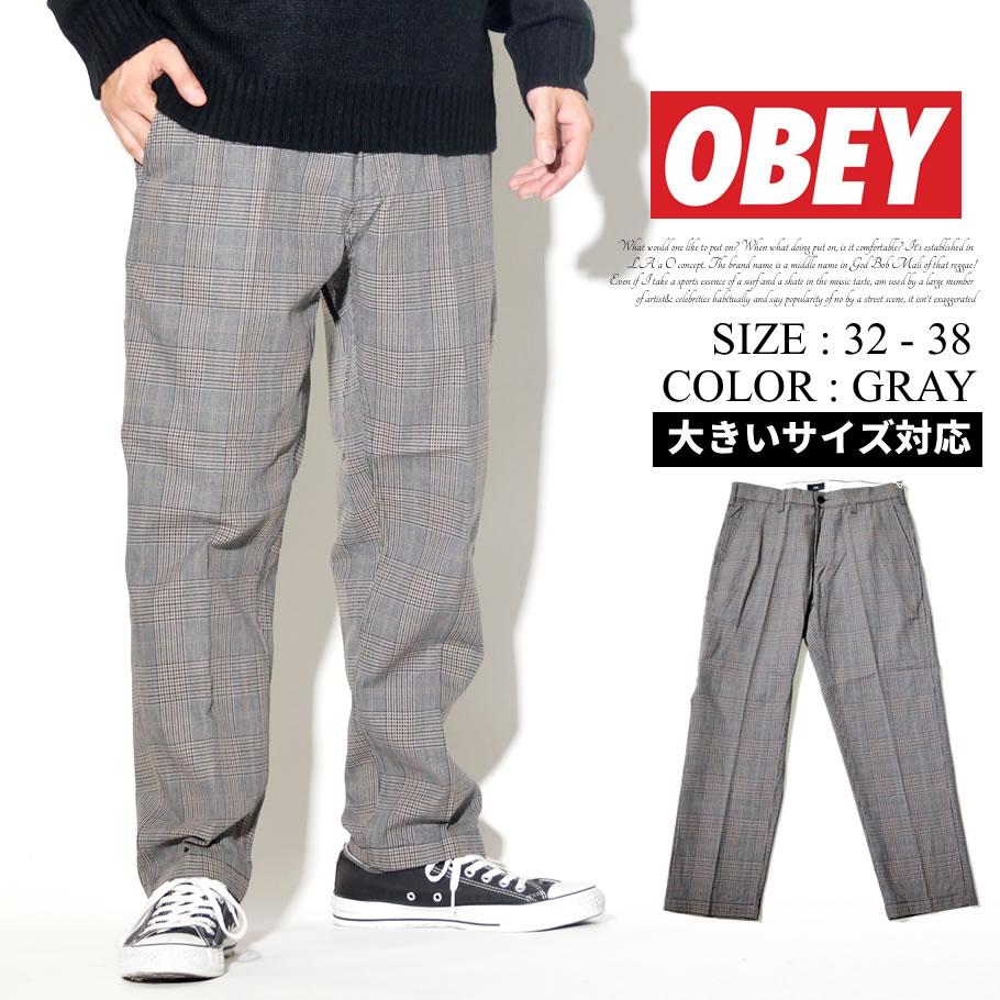 OBEY オベイ チェック柄パンツ メンズ ストリート系 ファッション 服 通販 142020123 OBDT007