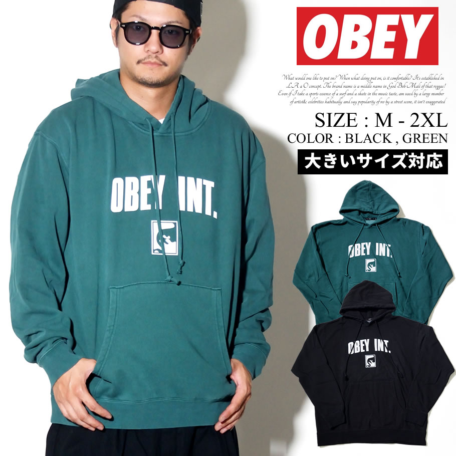 OBEY オベイ プルオーバーパーカー メンズ ロゴ ネーム ストリート系 ファッション 服 通販 112651789 OBPT005