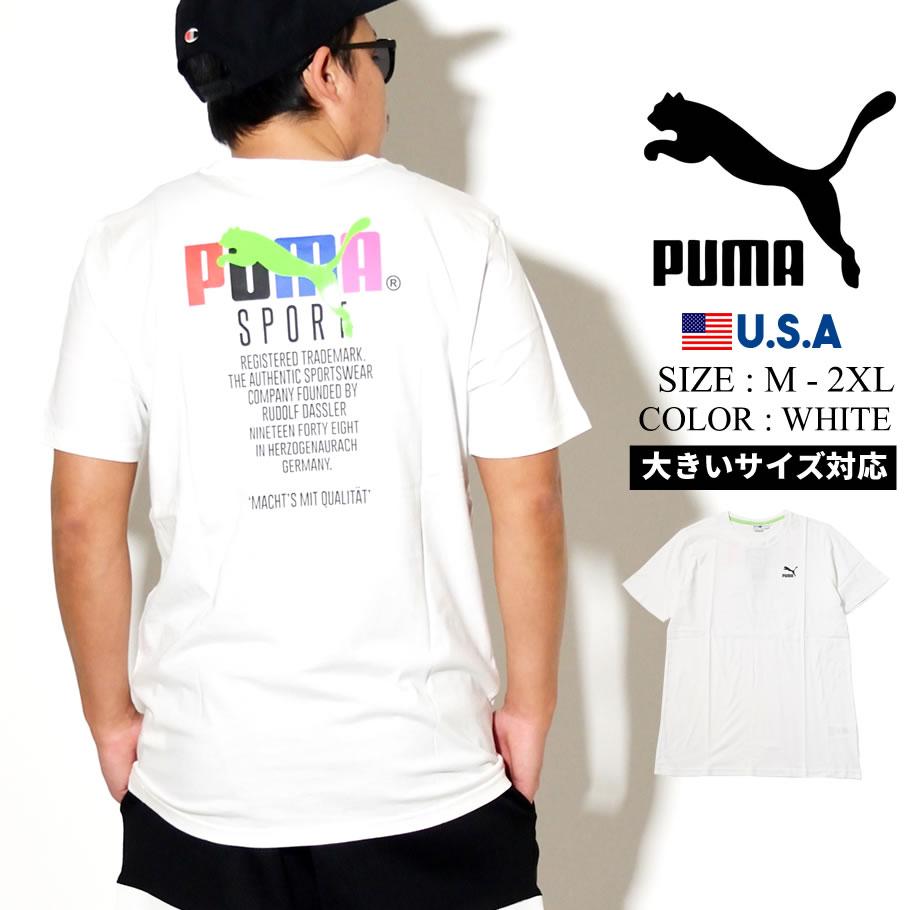 PUMA プーマ 半袖 Tシャツ メンズ GRAPHIC TEE TFS 52 PUMA WHITE 597167