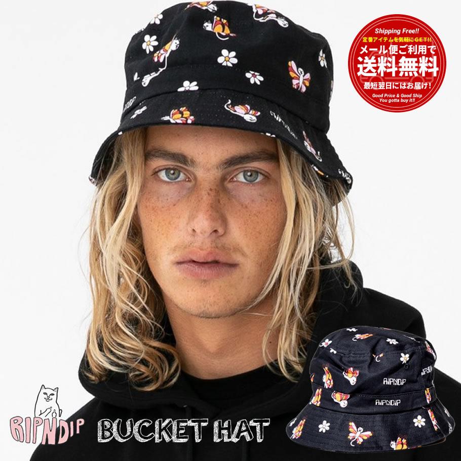 RIPNDIP リップンディップ バケットハット 帽子 メンズ レディース Butterfly Bucket Hat RND4756