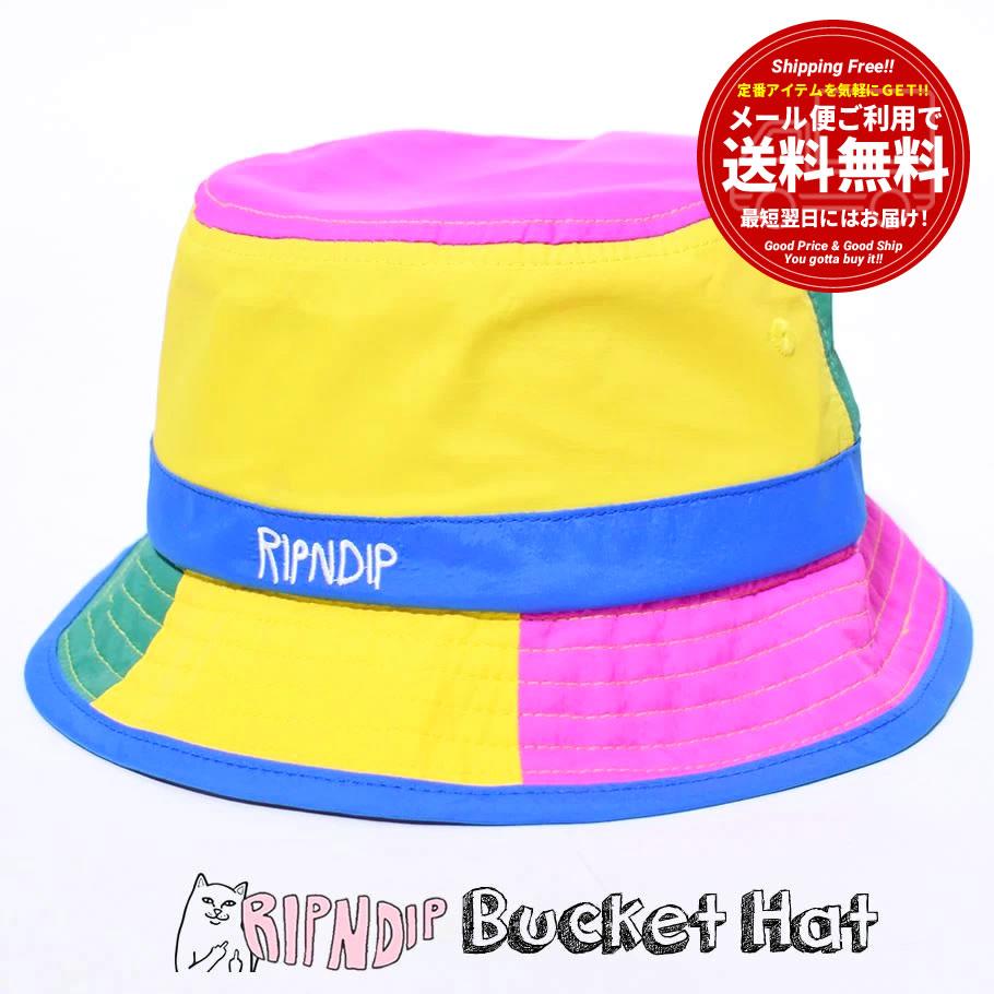 RIPNDIP リップンディップ バケットハット 帽子 メンズ レディース 撥水 ブランド USAモデル Perfect Shade Water Resistand Nylon Bucket Hat RND6087