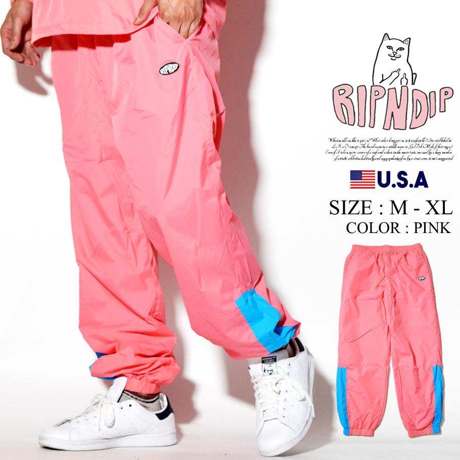 RIPNDIP リップンディップ トラックパンツ メンズ ストリート系 ファッション Run It Nylon Track Pants 服 通販