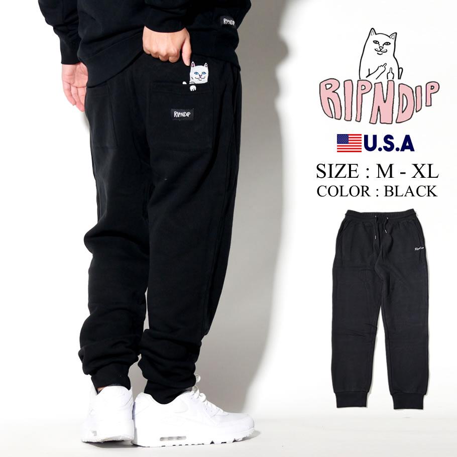RIPNDIP リップンディップ スエットパンツ メンズ レディース 猫 ネコ ストリート系 ファッション Peeking Nerm Sweatpants 服 通販