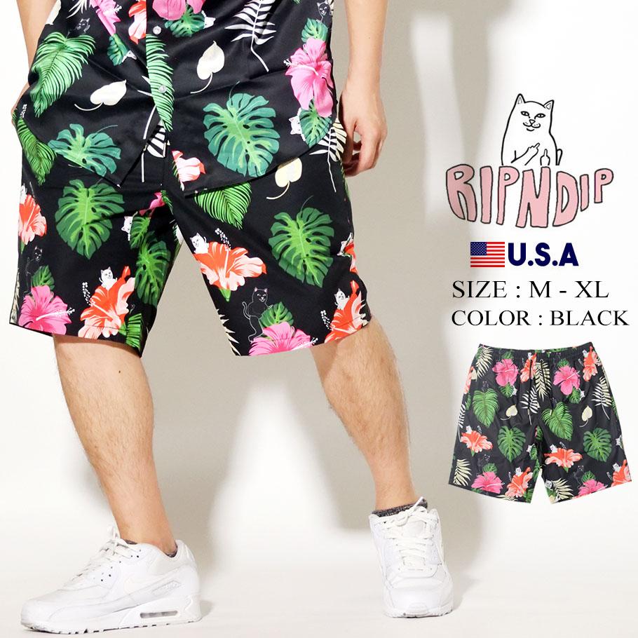 RIPNDIP リップンディップ ハーフパンツ ボタニカル 花柄 Maui Nerm Swim Shorts RND4322