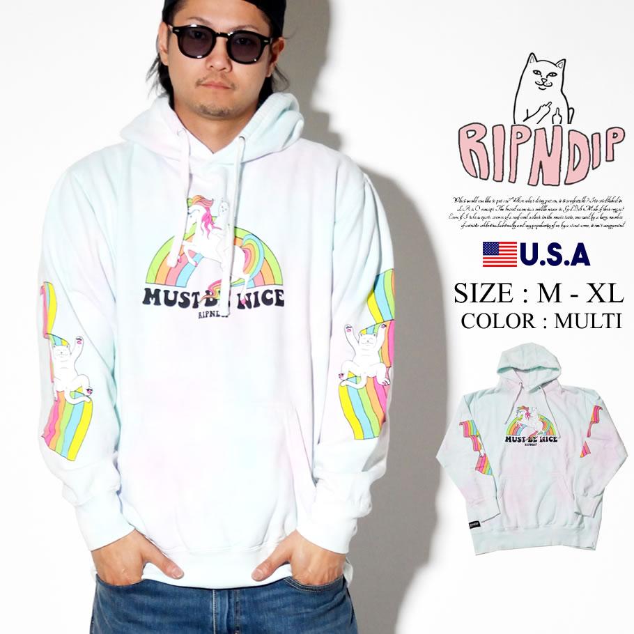 RIPNDIP リップンディップ パーカー メンズ 猫 ネコ ユニコーン ストリート系 ファッション My Little Nerm Hoodie 服 通販