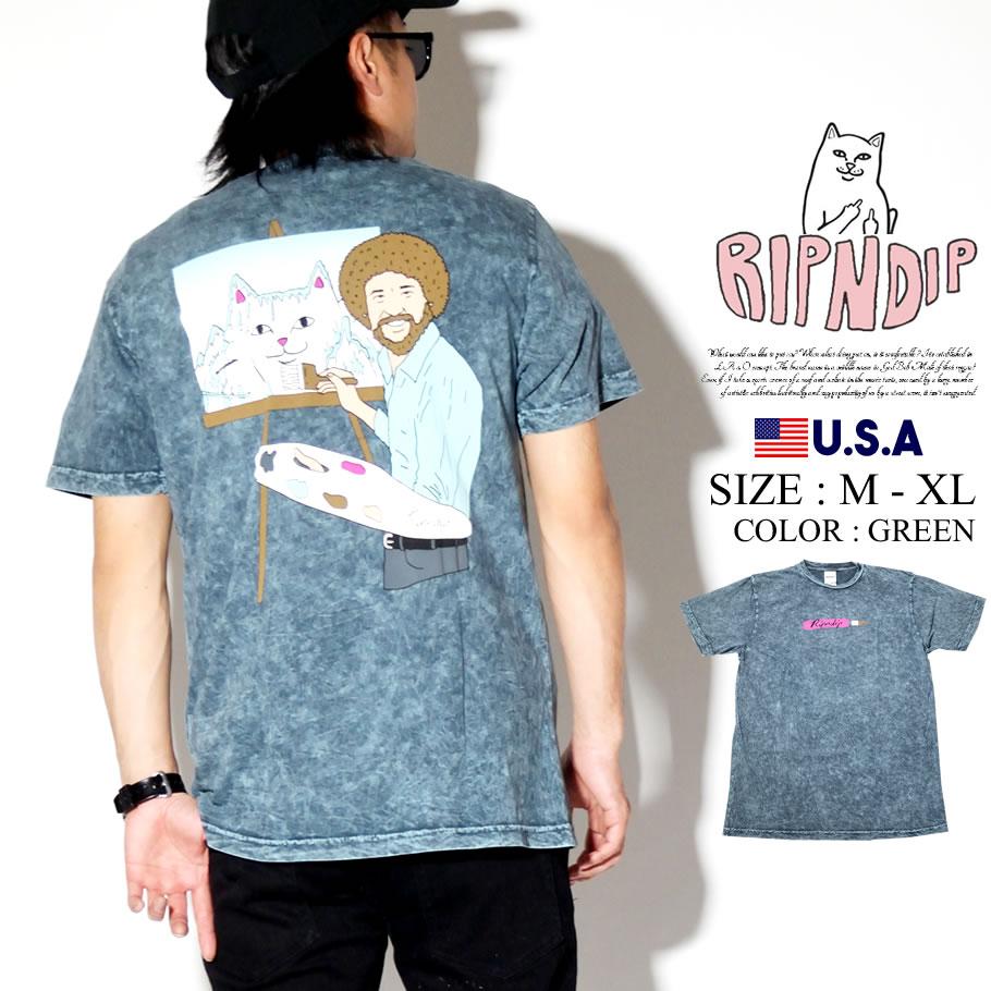 RIPNDIP リップンディップ Tシャツ メンズ 半袖 猫 ネコ ストリート系 ファッション Ross Tee 服 通販