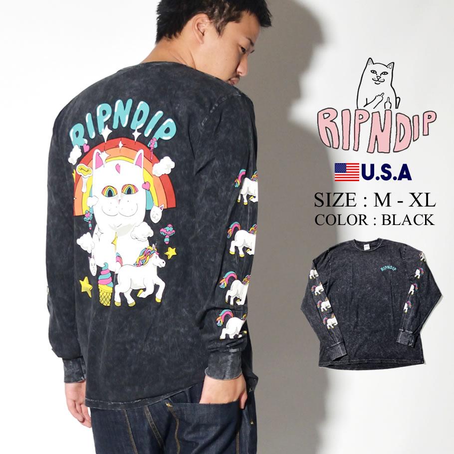 ripndip リップンディップ Tシャツ ロンT 長袖 メンズ ネコ 猫 ねこ Nermland LS RND3740 服 通販