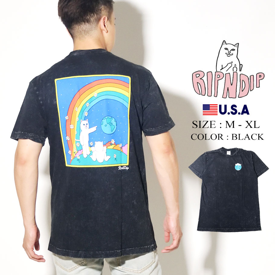 RIPNDIP リップンディップ Tシャツ 半袖 Earthgazing Tee RND4345