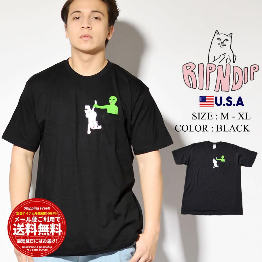 RIPNDIP リップンディップ ポケットTシャツ メンズ レディース 半袖 胸ポケット付き Hung Up Pocket Tee RND4740