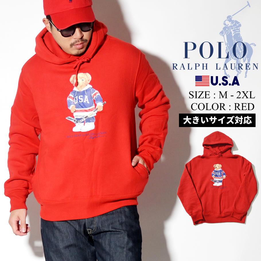 Polo Ralph Lauren ポロ ラルフローレン パーカー メンズ 大きいサイズ ロゴ クマ ベアー カジュアル ストリート系 ファッション 服 通販