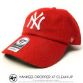 47BRAND フォーティーセブンブランド ロークラウンキャップ YANKEES DROPPER 47 CLEAN UP B-DRPER17WMH-RD 6V7128
