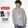 SUPERIOR スーペリア 長袖Tシャツ SKATING M AND FLAME LOGO PO 11720031 7V2146