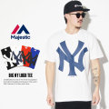 MAJESTIC マジェスティック 半袖Tシャツ BIG NY LOGO TEE MM01-NYK-0269 7V3002