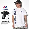 MAJESTIC マジェスティック 半袖Tシャツ SIDE NEWYORK TEE MM01-NYK-0246 7V3006