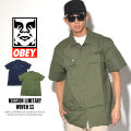 OBEY オベイ 半袖シャツ MISSION MILITARY WOVEN SS 18120133 7V3240