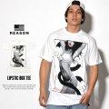 REASON リーズン 半袖Tシャツ LIPSTIC BOX TEE F8-981 7V3328